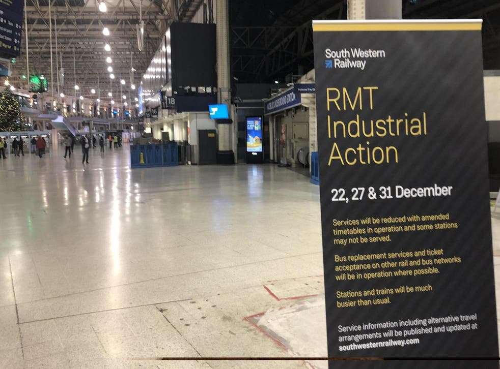 Industrial action affected the train network last Christmas