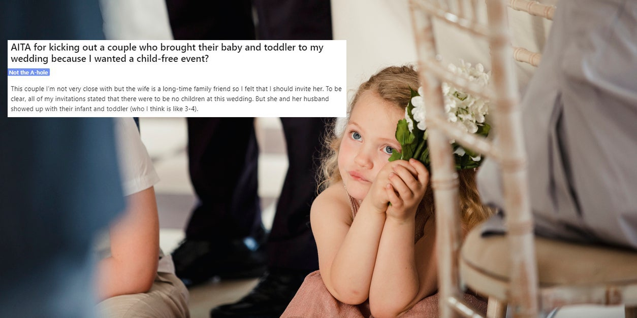 ceba038cfcb Bride goes viral after ejecting couple who brought their kids along to her   child-free wedding