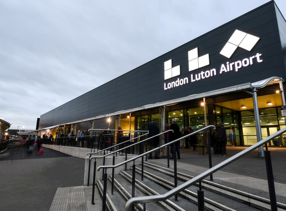 Luton Airport.