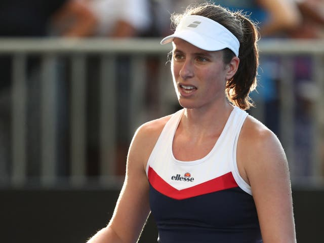 Johanna Konta has been knocked out of the Brisbane International by Ajla Tomljanovic