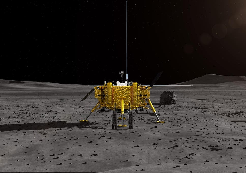 Image result for Chinese spacecraft Chang'e 4 lands on moon's unexplored dark side