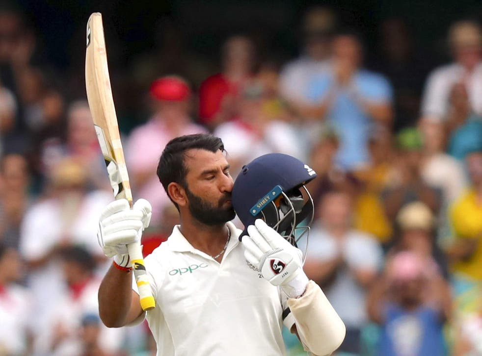 Pujara reached three figures for the third time in the series