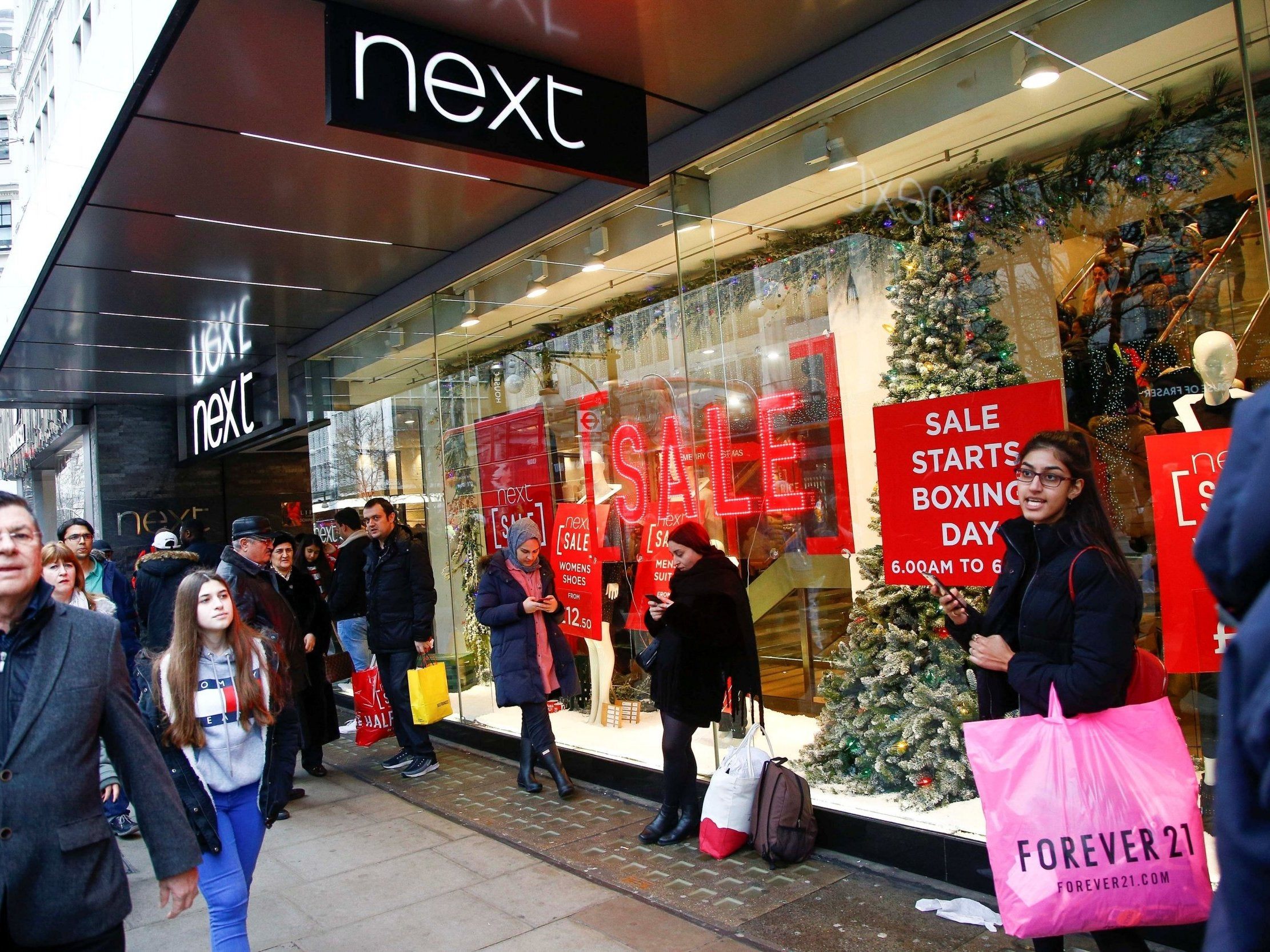 Next shares jump as sales rise over crucial Christmas period