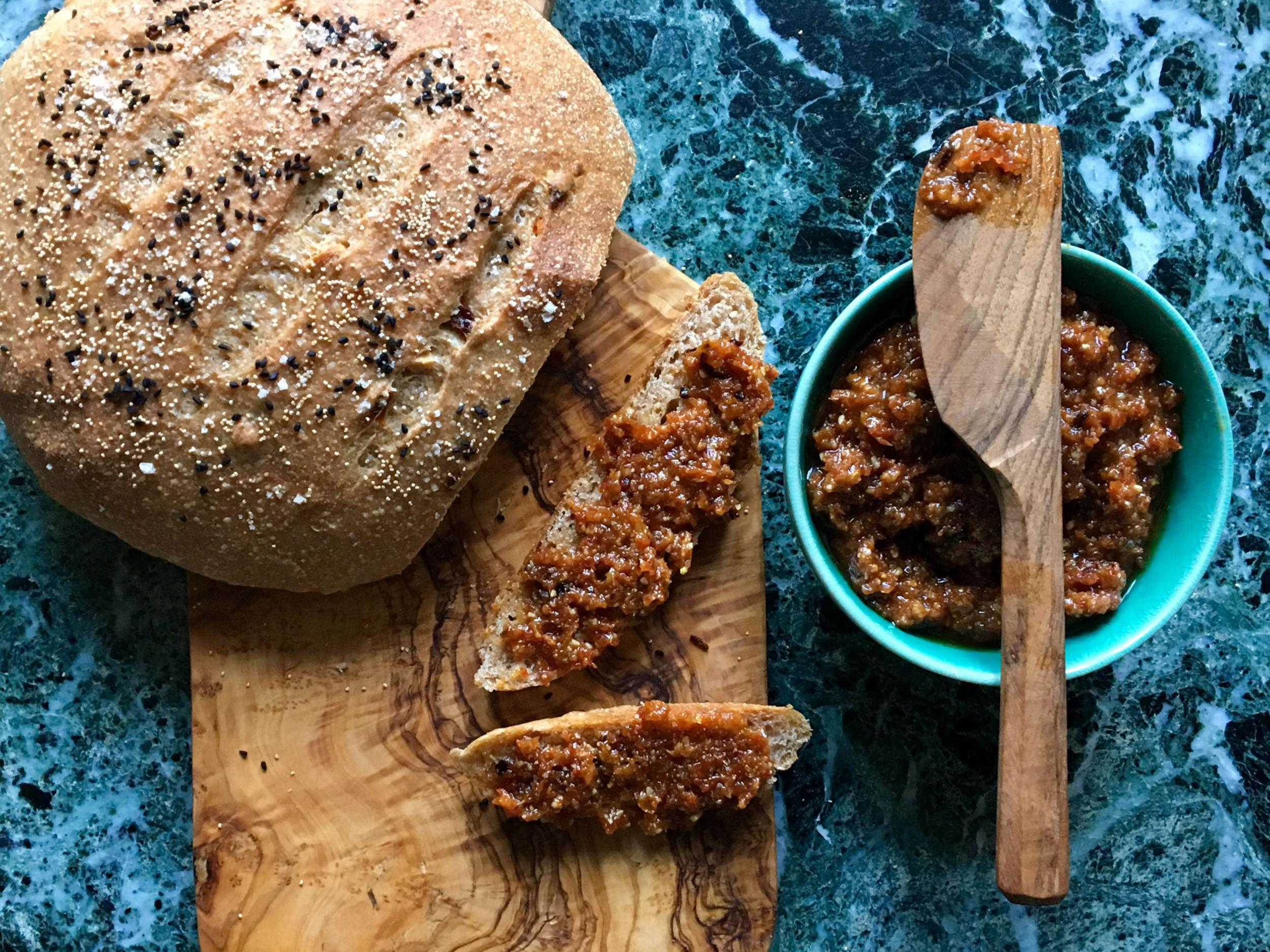 How to make sun-dried tomato, walnut and chipotle chilli paste