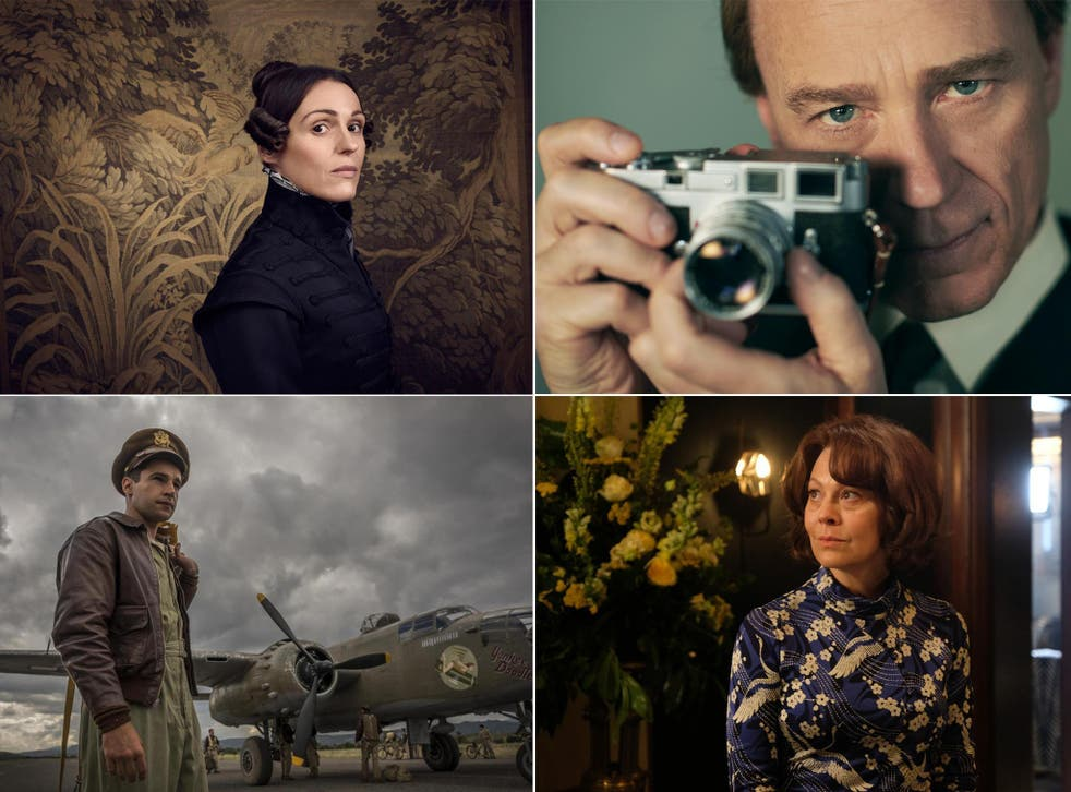 Clockwise from top left: Gentleman Jack, The Crown, MotherFatherSon, Catch-22