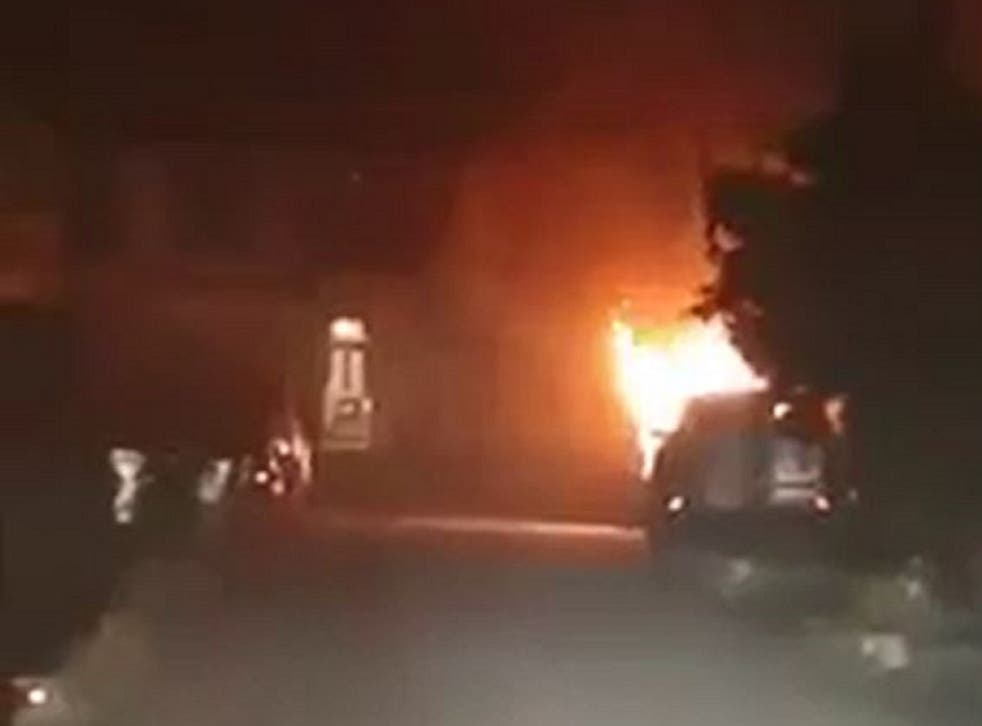 Police in Kent are investigating after a van belonging to a homeless man was destroyed in a fire in Collingwood Road, Whitstable, on 3 January, 2019.