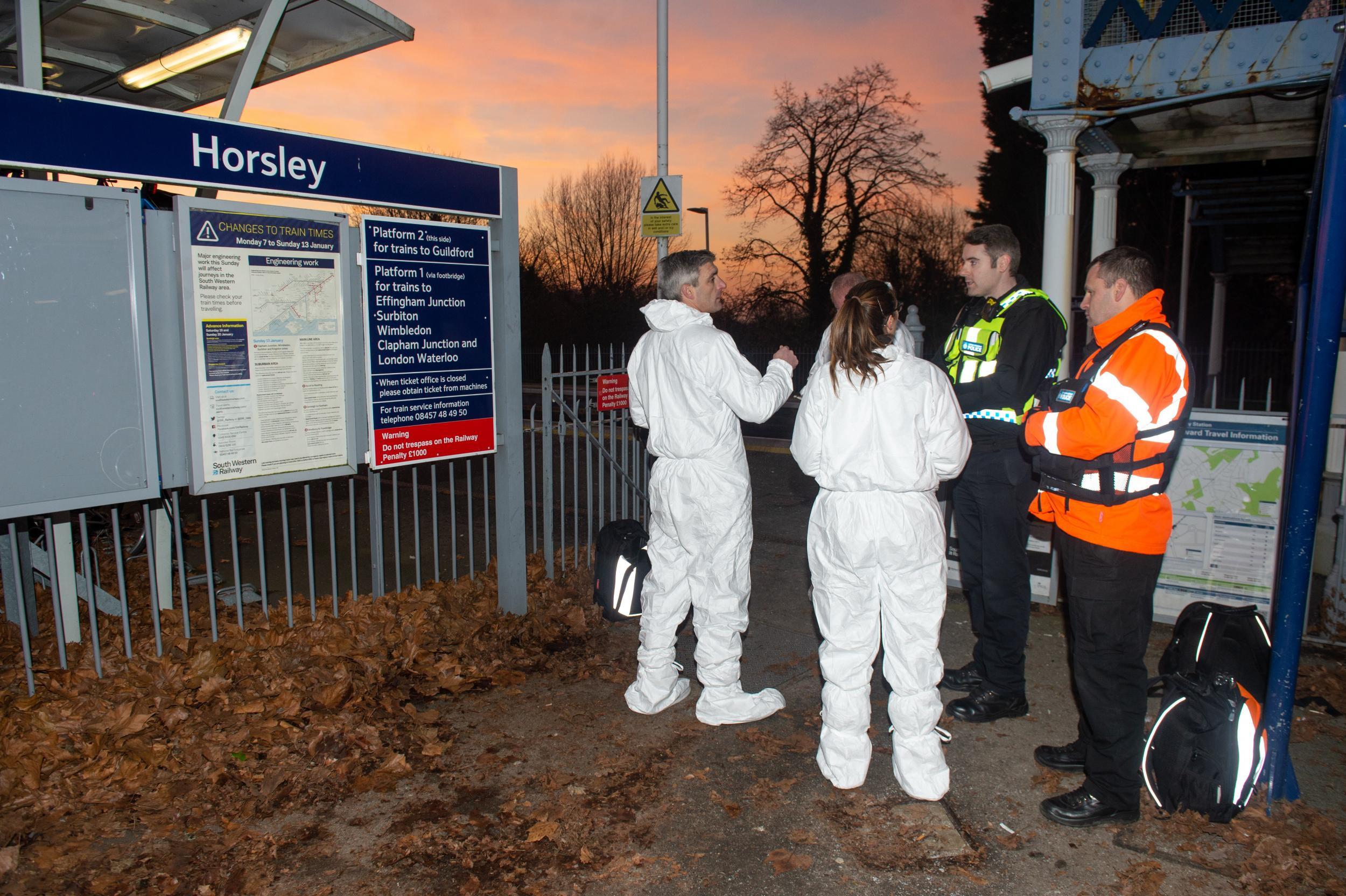 Killer on run after passenger stabbed to death in front of 14-year