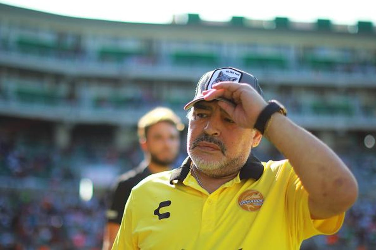 Diego Maradona Admitted To Hospital After Suffering Stomach Bleed The Independent The Independent