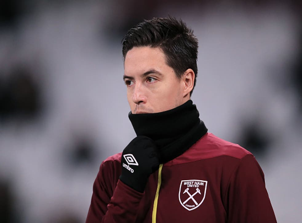 Nasri signed for West Ham on a free transfer earlier this week
