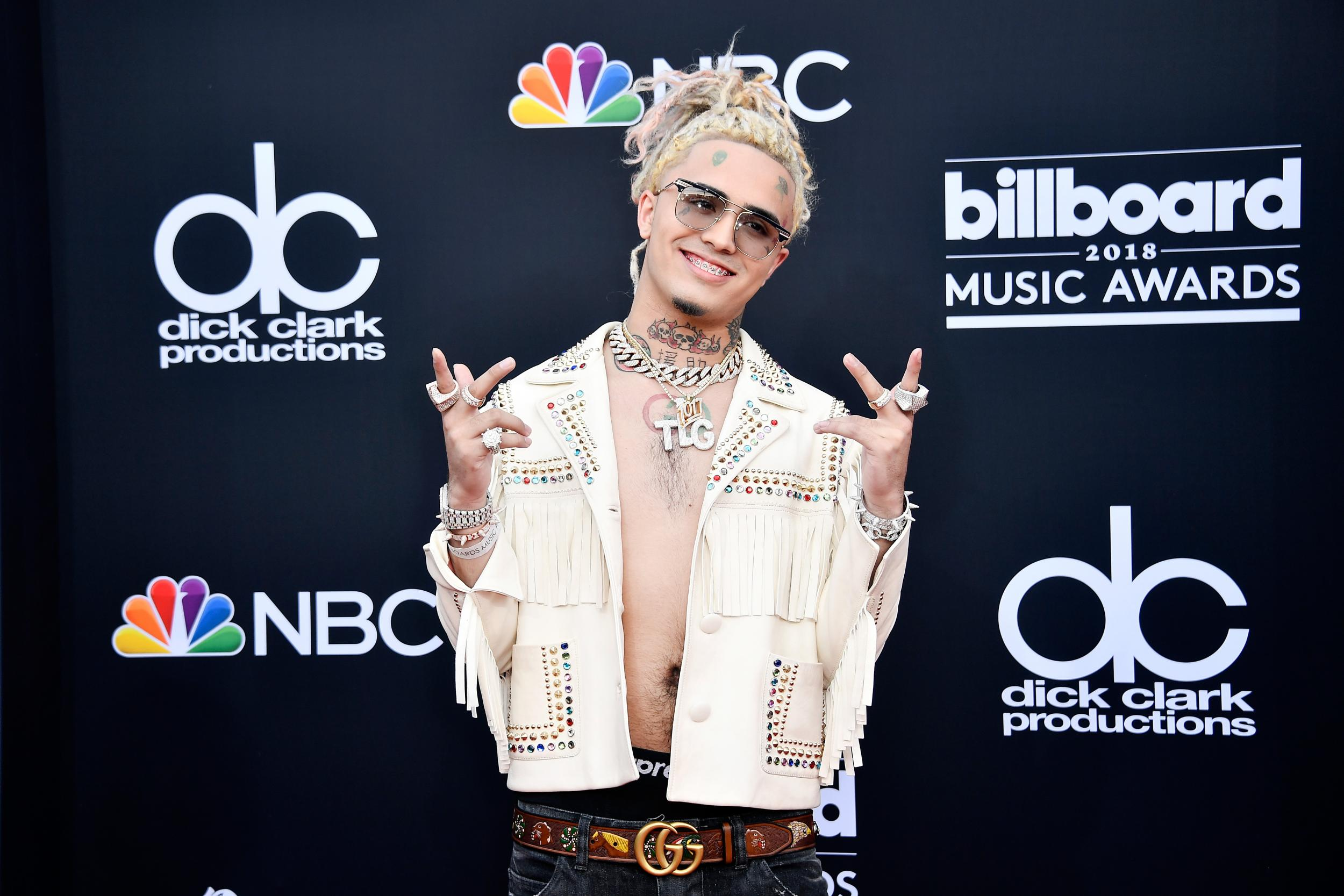 Rapper Lil Pump bitten by a snake on set of new music video in shocking footage: 'I hope I don't die'
