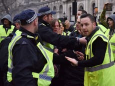 Teen girl arrested during far-right 'yellow vest' protests in London