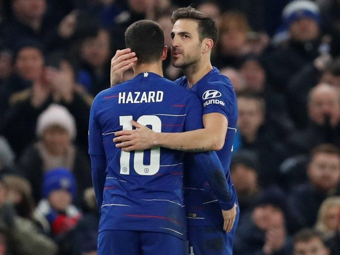 Eden Hazard says goodbye to  great friend  Cesc Fabregas as he heads ... 8d26f23a46a7d
