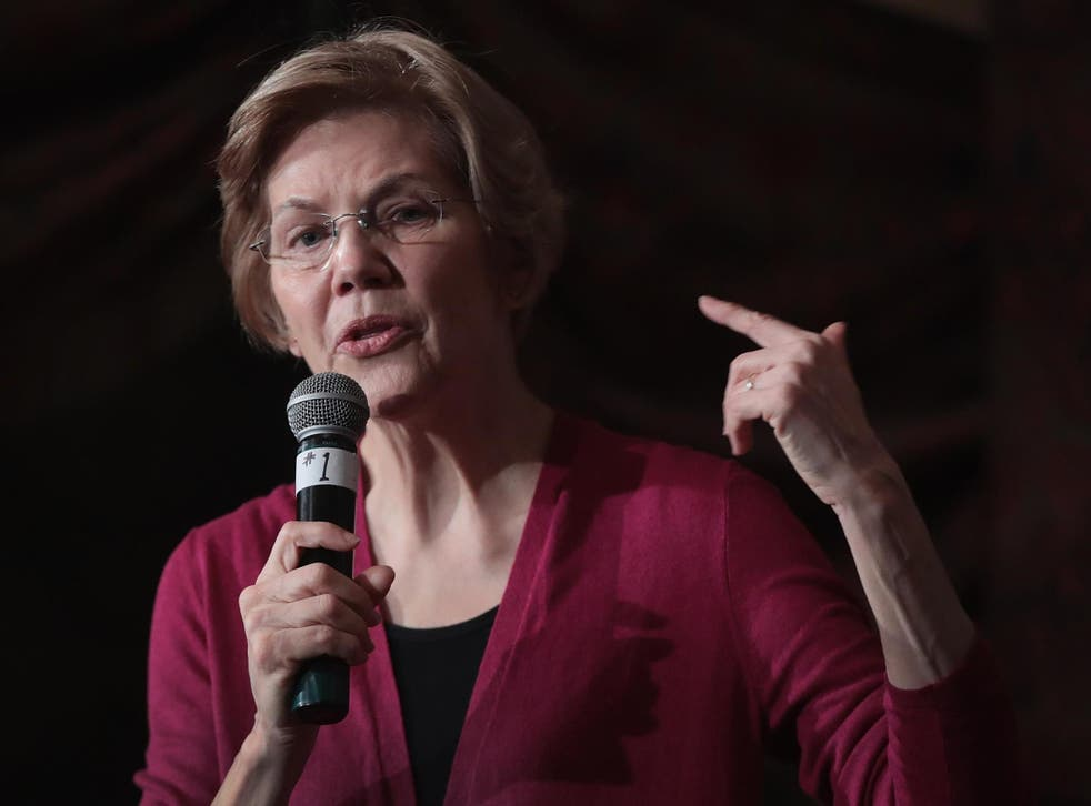 Ms Warren speaks at January 2019 event in Iowa