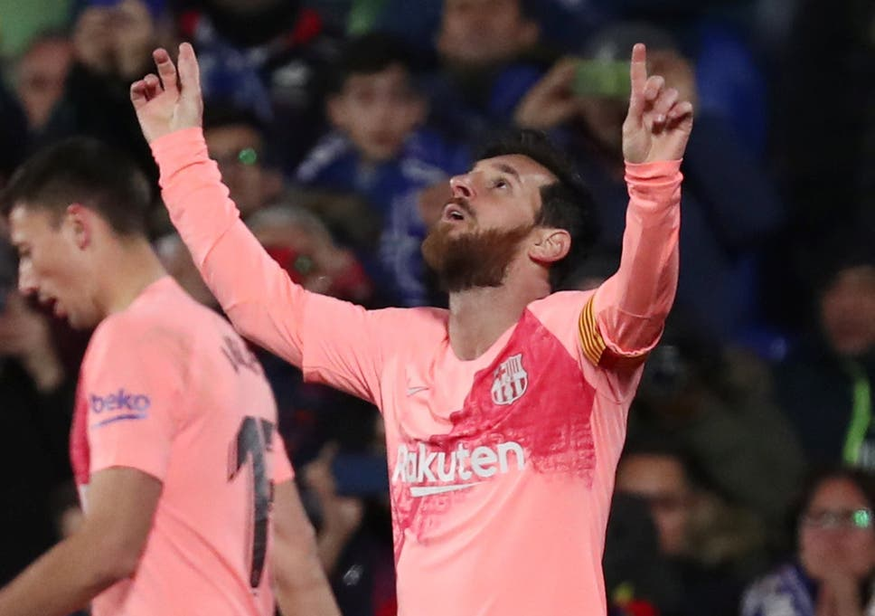 f8cde775f76 Getafe vs Barcelona LIVE  Latest score and updates as Lionel Messi goal  gives visitors early lead