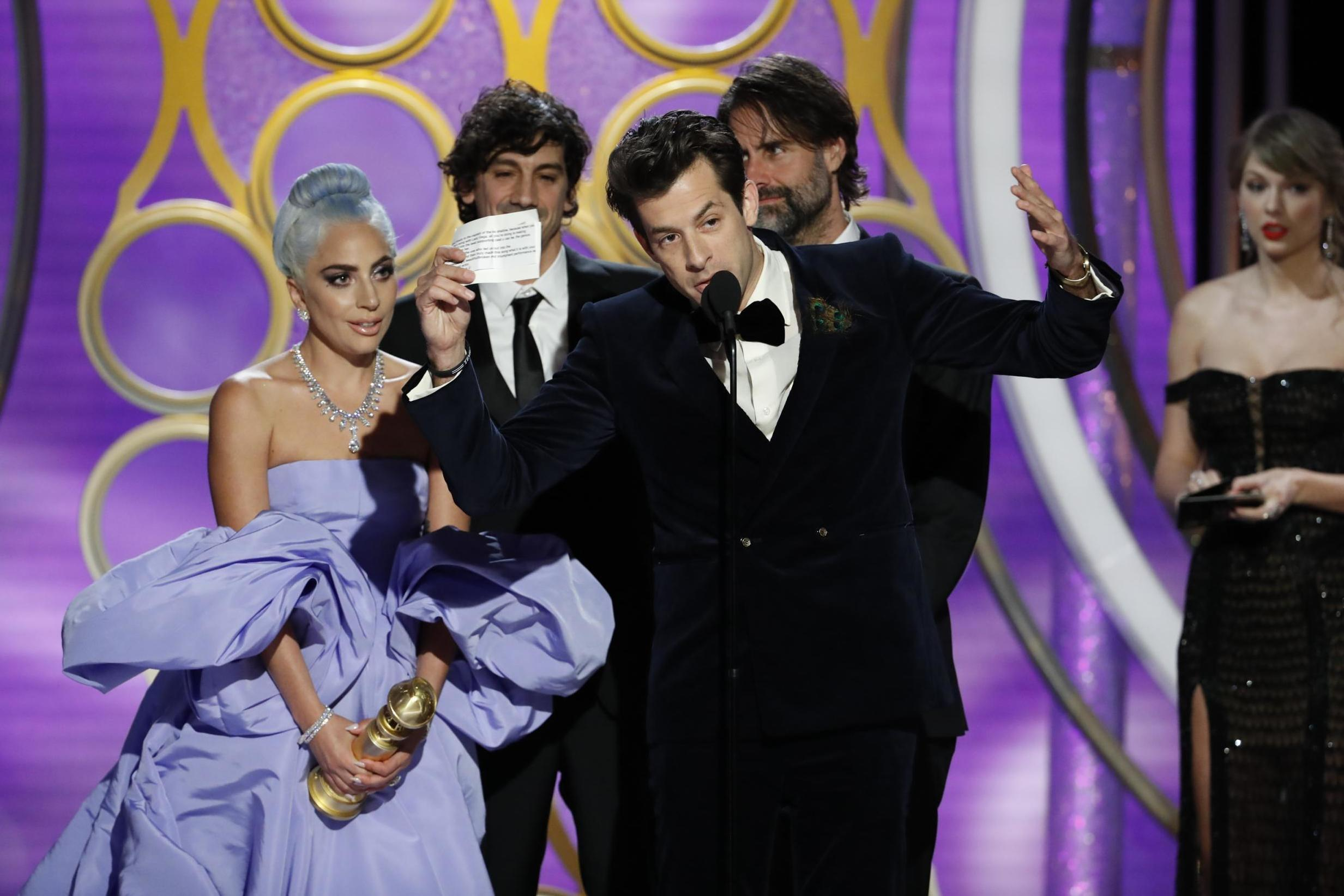 f4b9c6e8459 Golden Globes 2019: Viewers think Mark Ronson took Lady Gaga's spotlight  during acceptance speech for 'Shallow' | The Independent