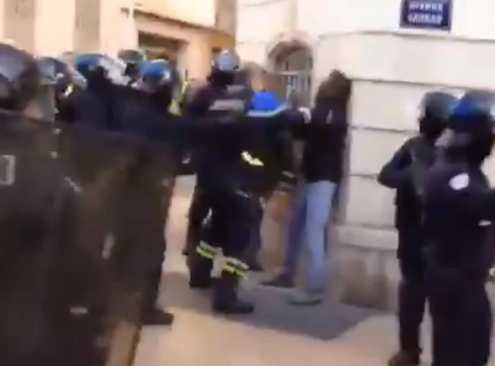 Didier Andrieux was filmed punching the demonstrator in the city of Toulon on Saturday