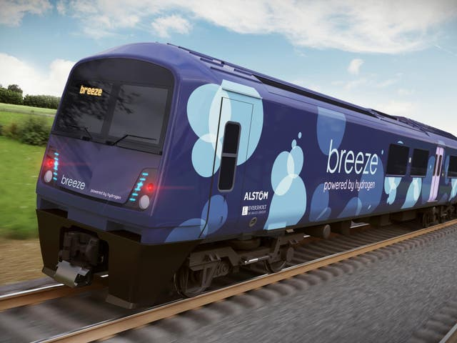 The Breeze will take existing rolling stock and replace the old diesel engine with hydrogen fuel cells