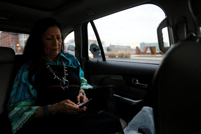 Behind The Scenes As Deb Haaland Makes Us History As One Of The First Two Native American Congresswomen The Independent The Independent