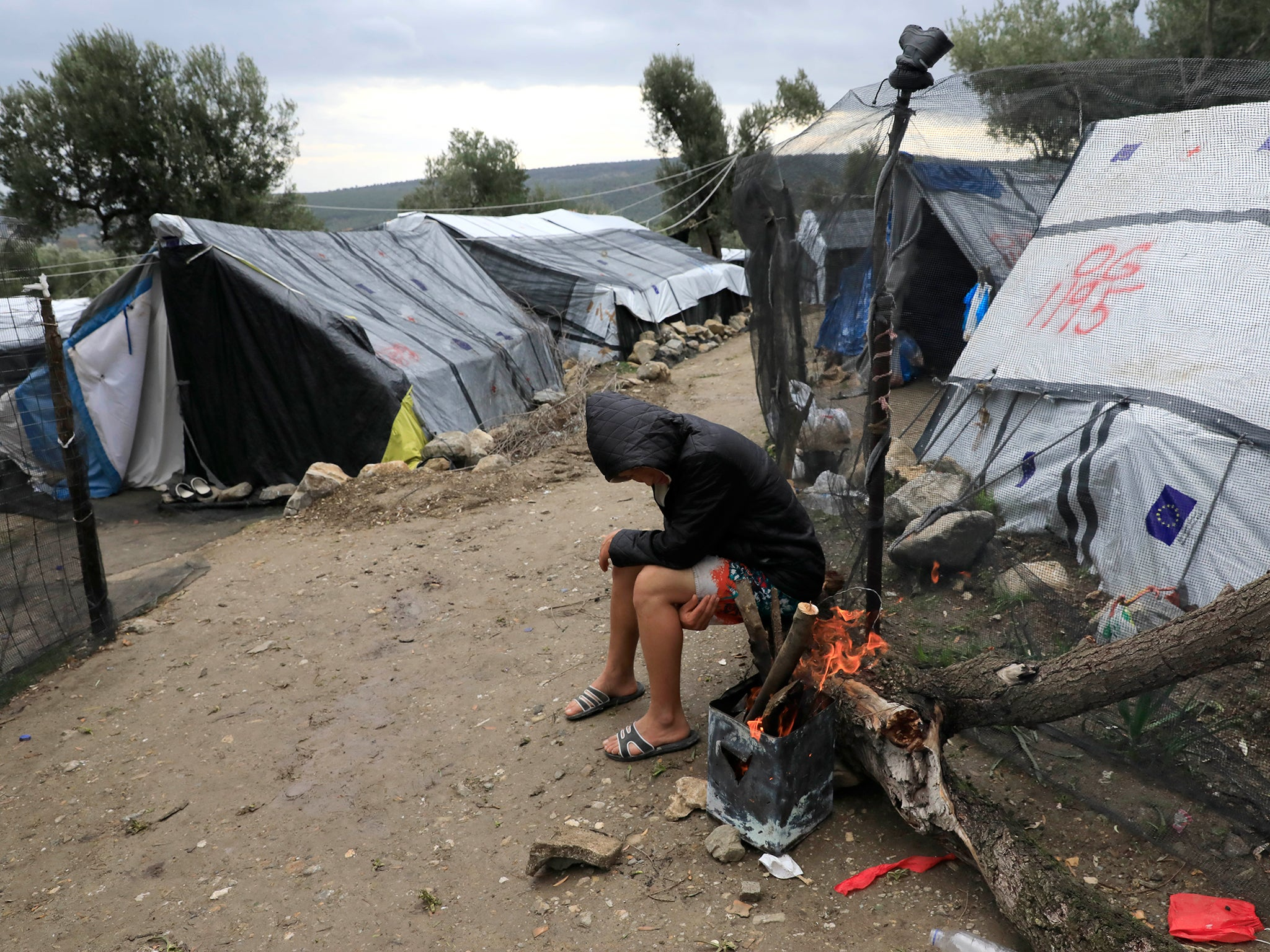Hundreds of torture survivors, pregnant women and children 'abandoned' in Greek refugee camps, Oxfam says