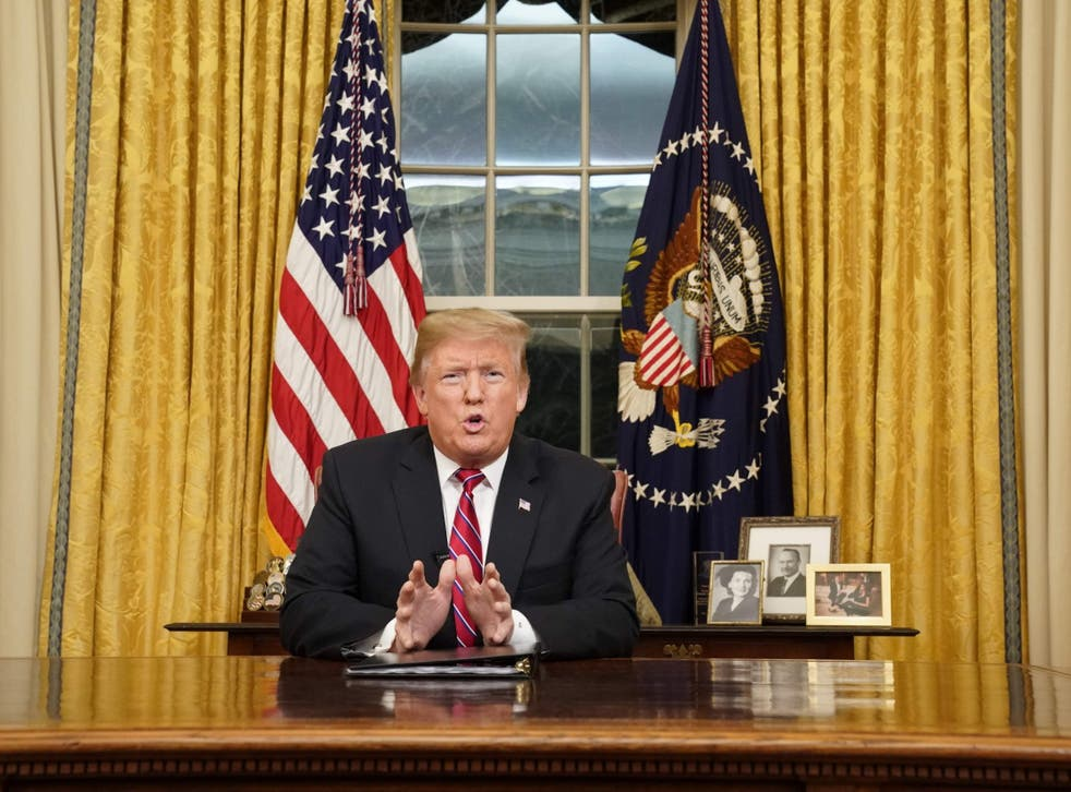 US President Donald Trump delivers a televised address to the nation on funding for a border wall