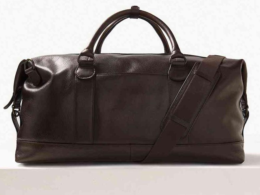 M S Collection Casual Leather Holdall  £149, M S f3ed6d4882