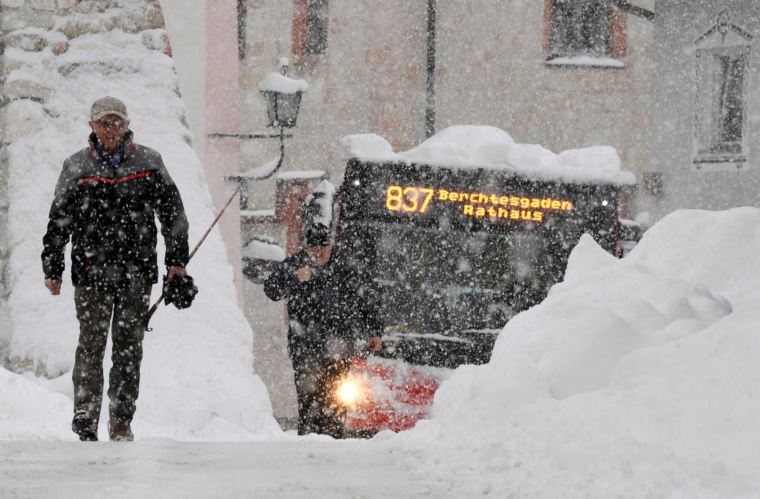 Austrian armed forces find clever way to clear snow from