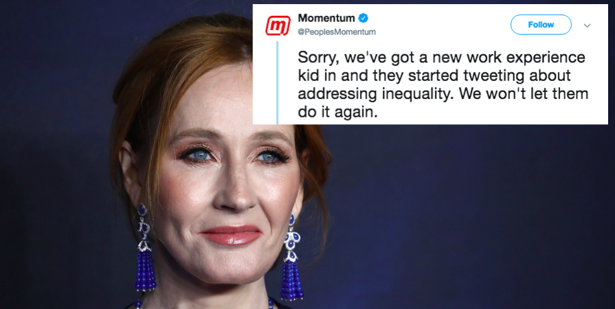 JK Rowling tried to put down Momentum on Twitter, but it had the perfect response