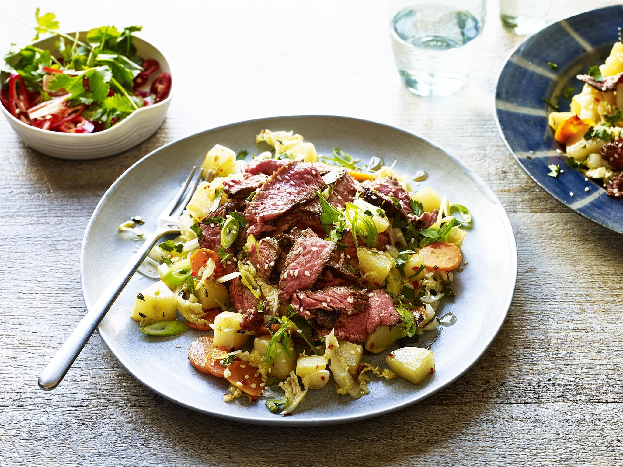 How to make a Thai beef and potato salad 1