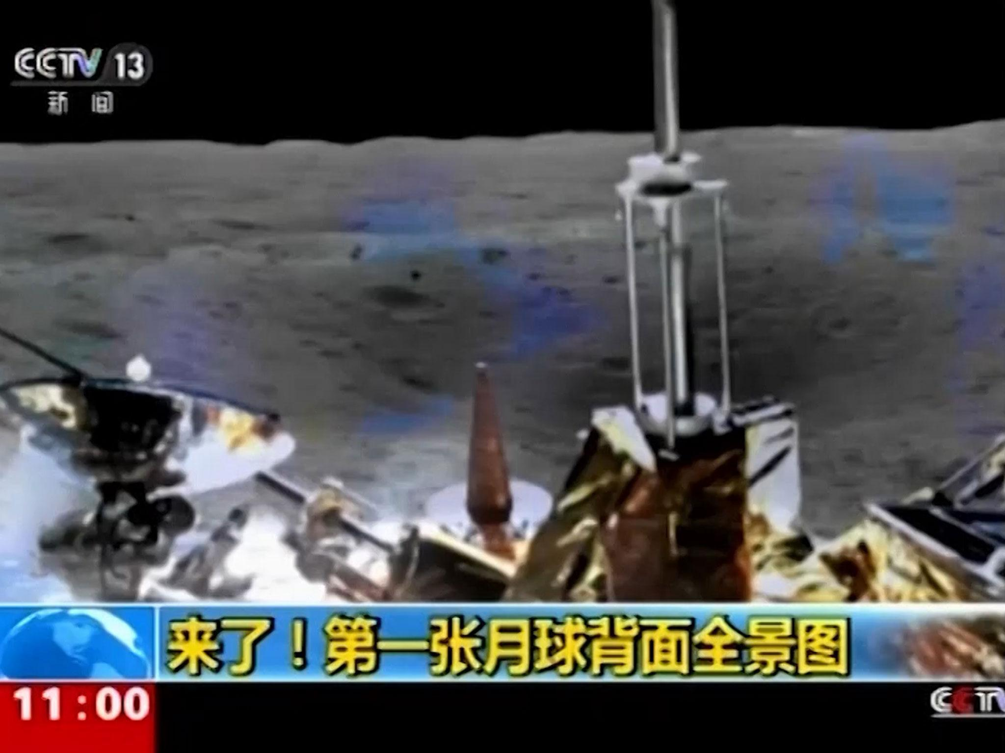 China broadcasts never-before-seen pictures of the far side of the Moon