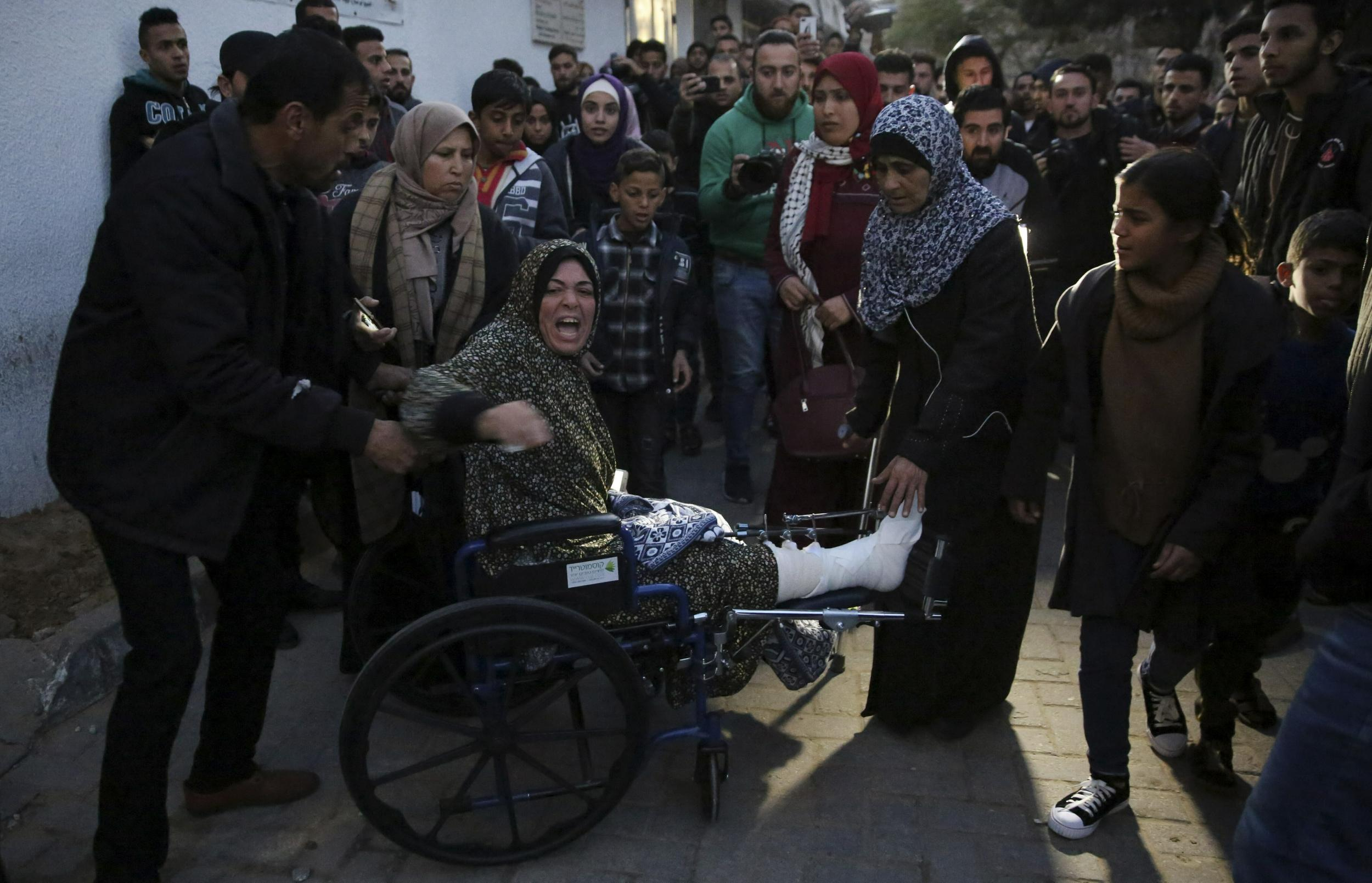 Gaza border protests: Palestinian woman killed as Israel launches airstrikes 'in response to violence'