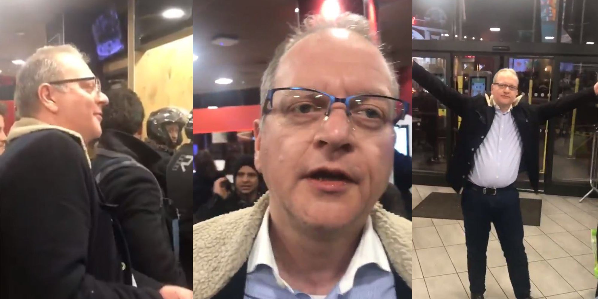 White man filmed making racist, sexist, xenophobic rant in London McDonald's