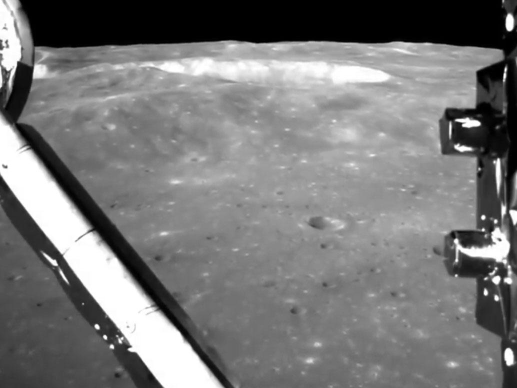 Chinese spacecraft seen landing on far side of moon in new footage
