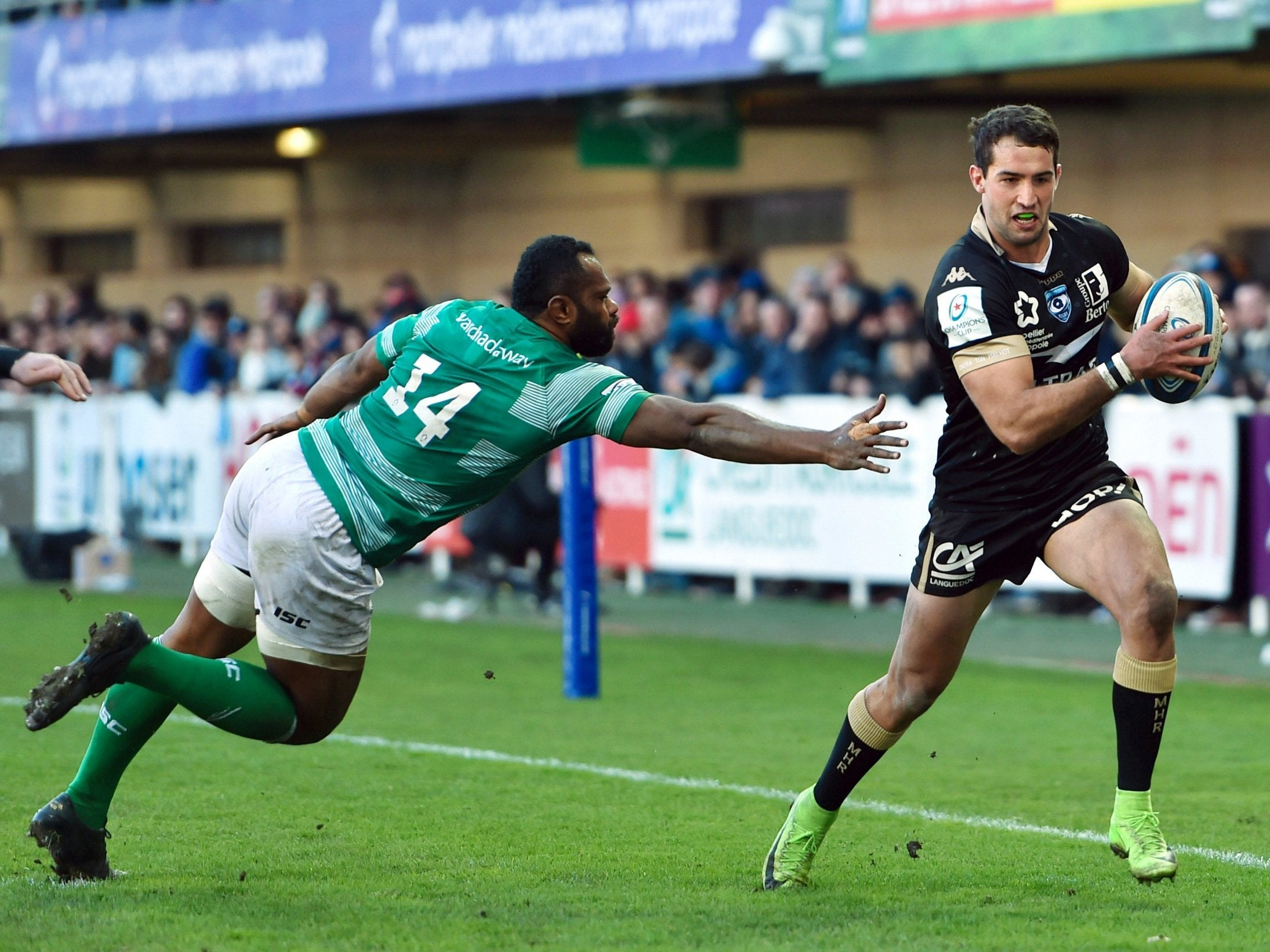 Newcastle Falcons see their Heineken Champions Cup hopes end in heavy defeat by Montpellier