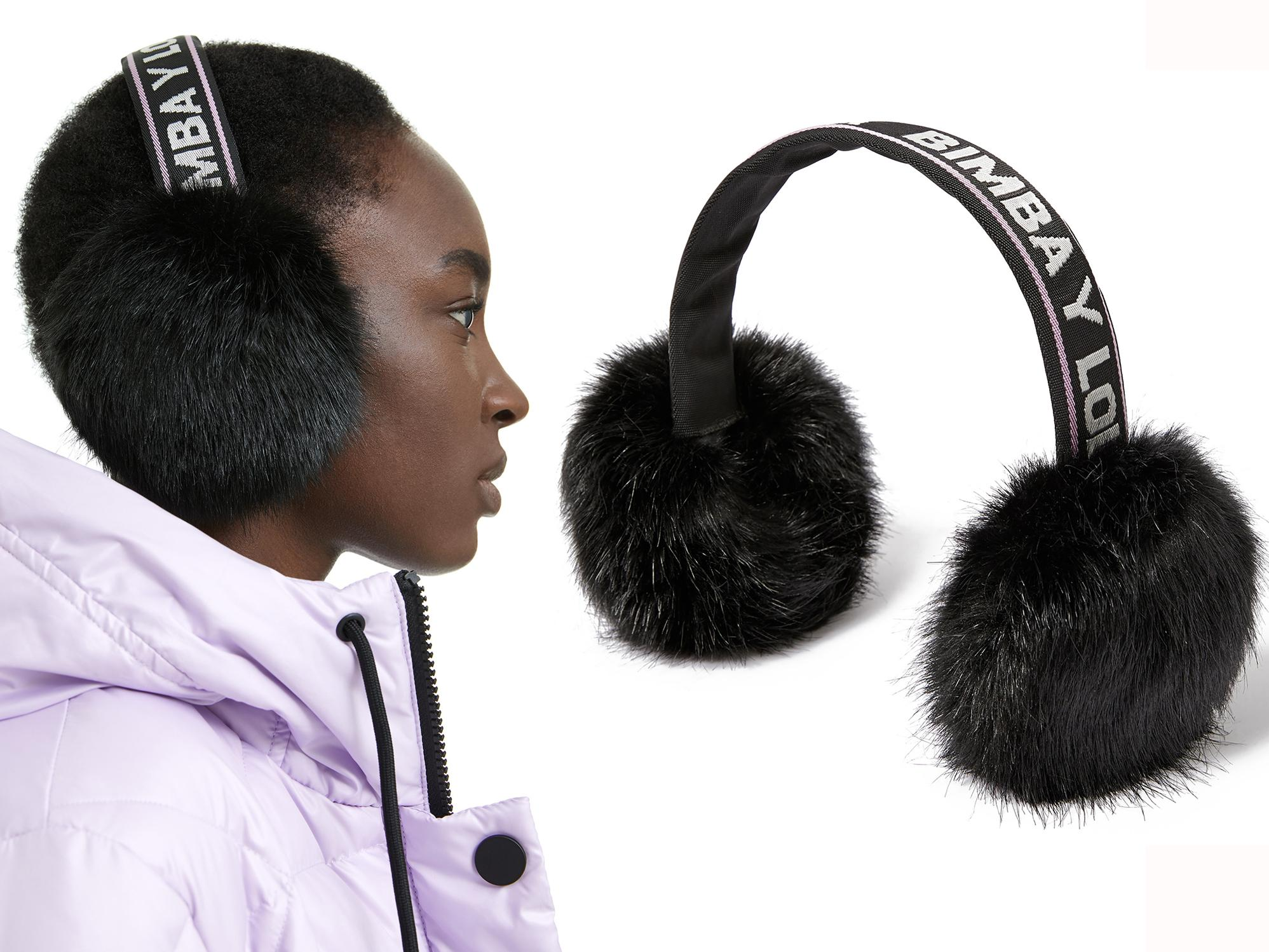 Old Fashioned Bicycle High Wheeler Britain Winter Earmuffs Ear Warmers Faux Fur Foldable Plush Outdoor Gift