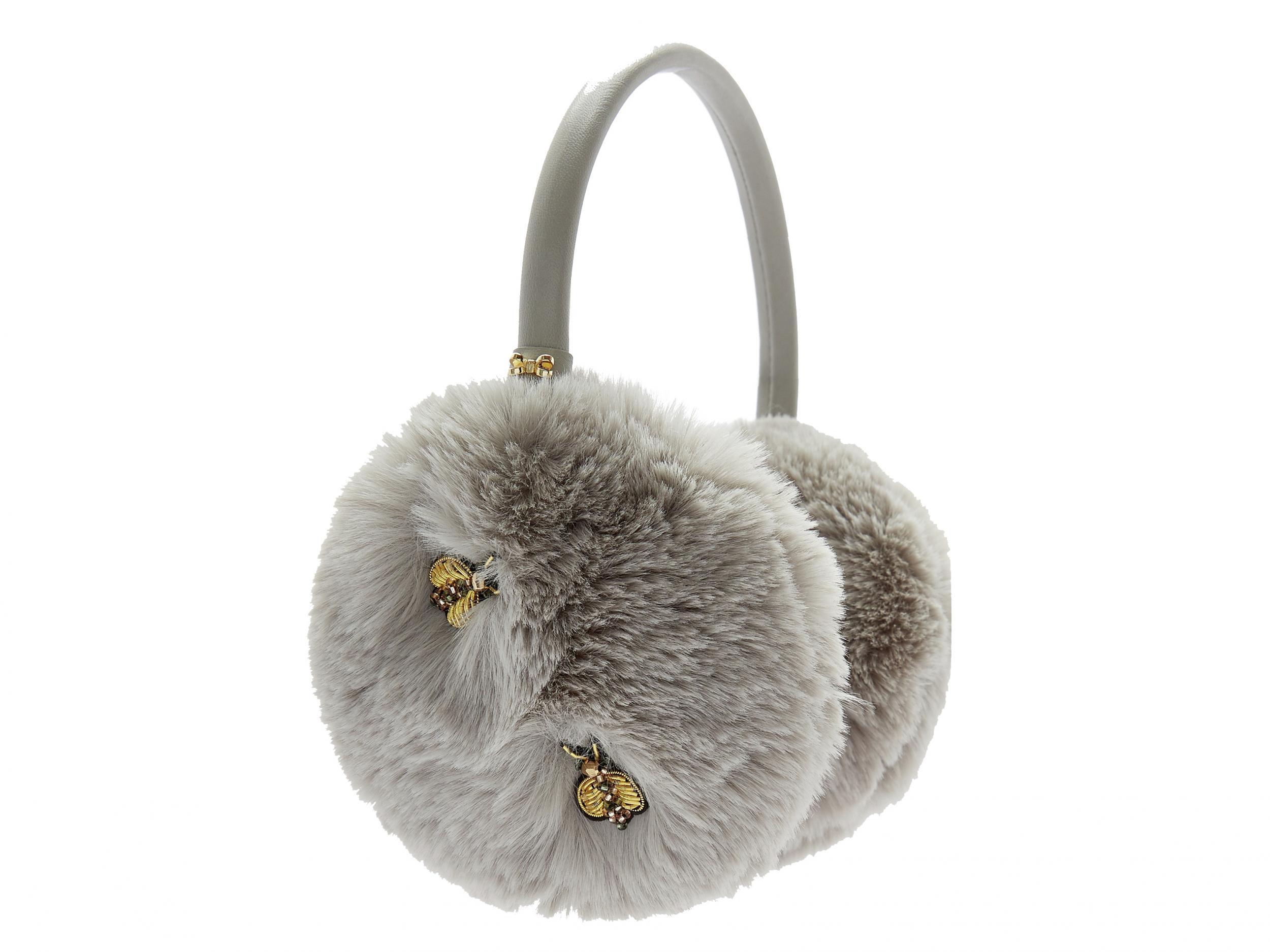 Circular Slight Cold Twenty Four Solar Term Winter Earmuffs Ear Warmers Faux Fur Foldable Plush Outdoor Gift