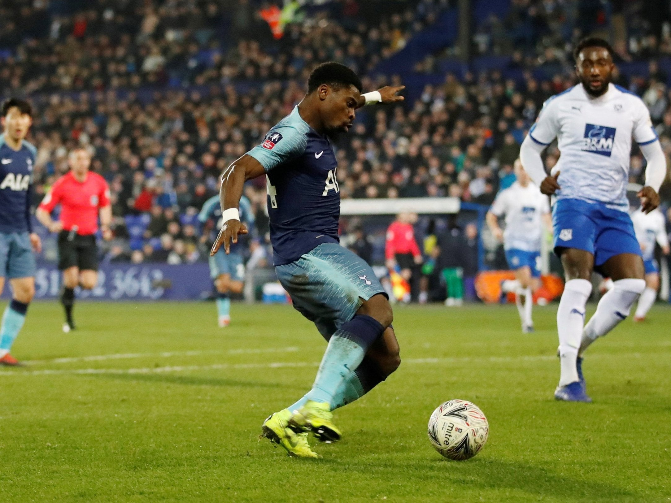 Serge Aurier was detained by Tottenham for alleged personal injury before being released without charge
