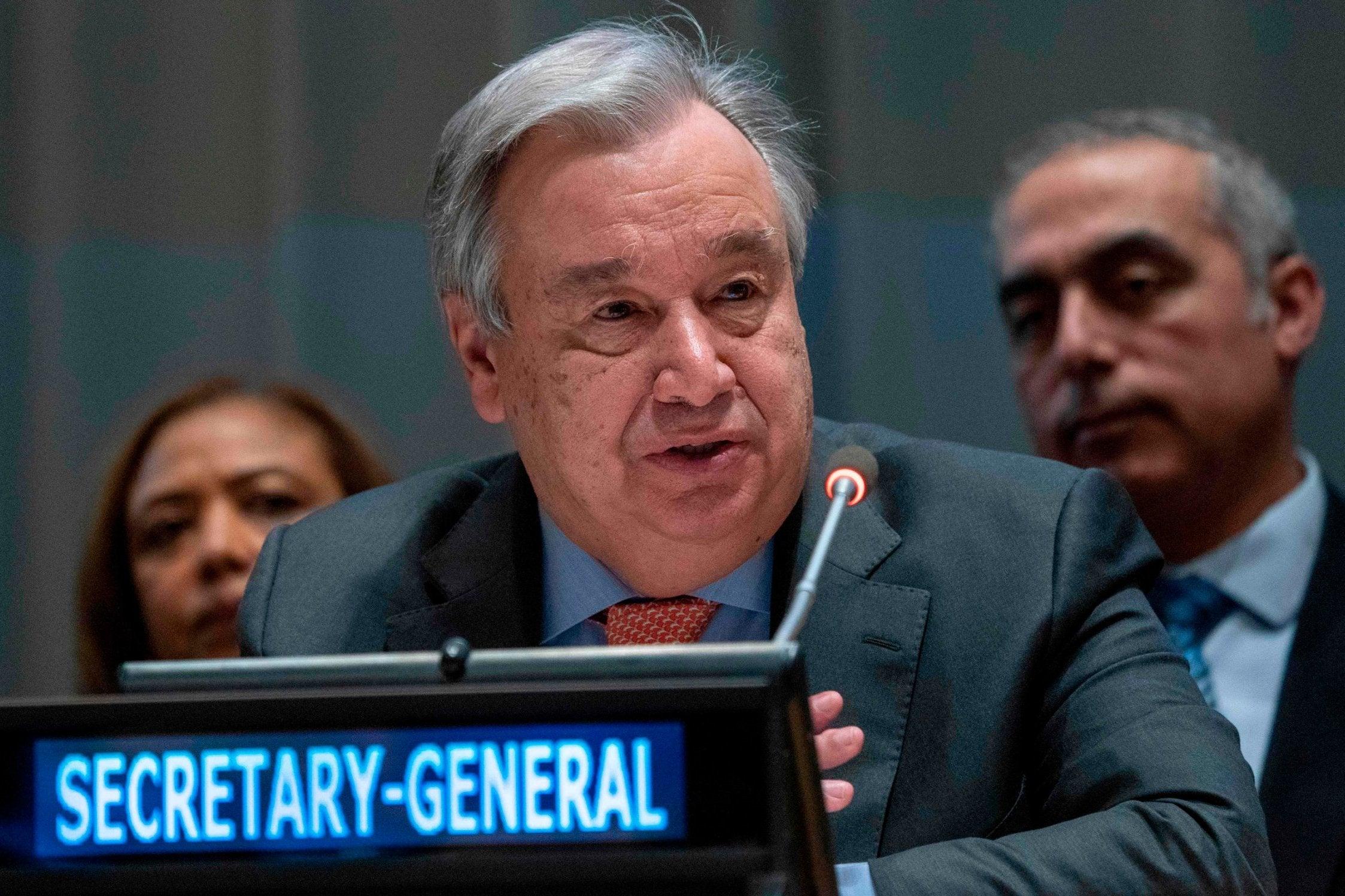 Resultado de imagen de fotos de Antonio Guterres