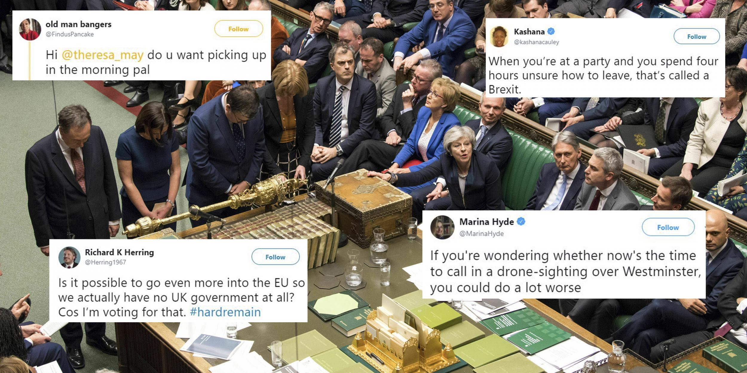 27 of the funniest brexit jokes and memes after theresa mays deal voted down indy100