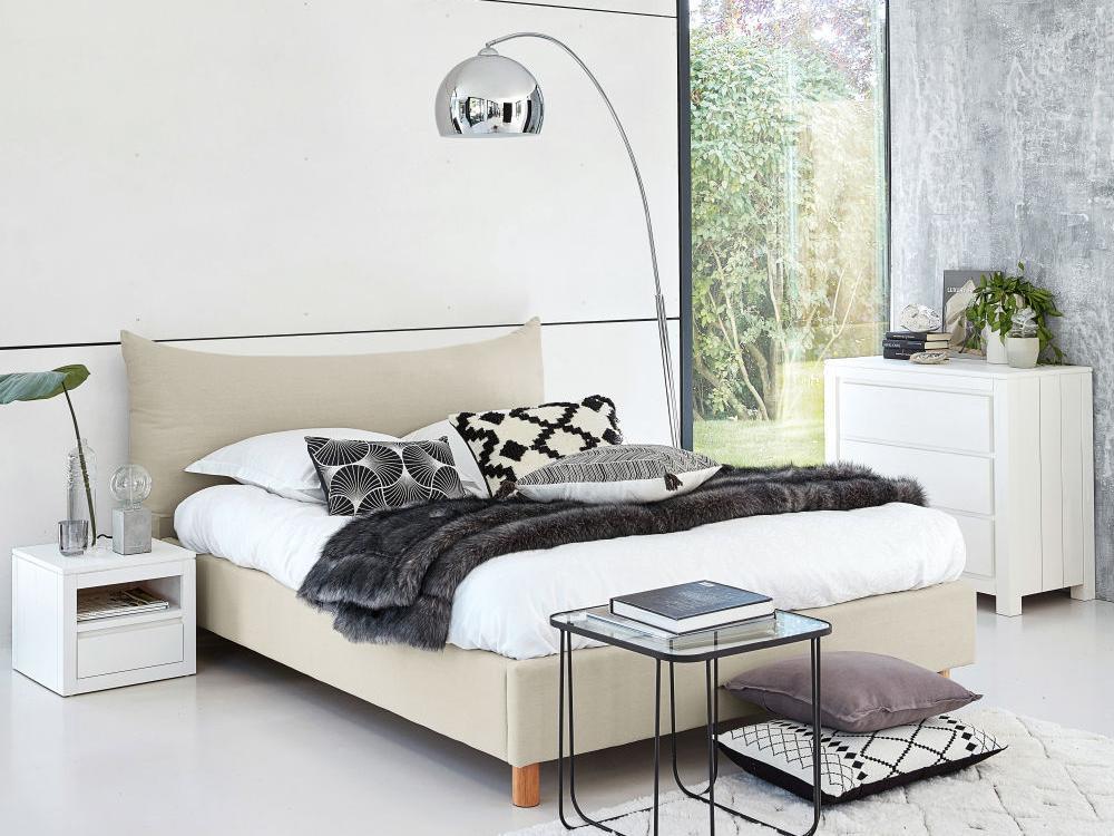 White Mendelssohn Double Bed Frame Furniture