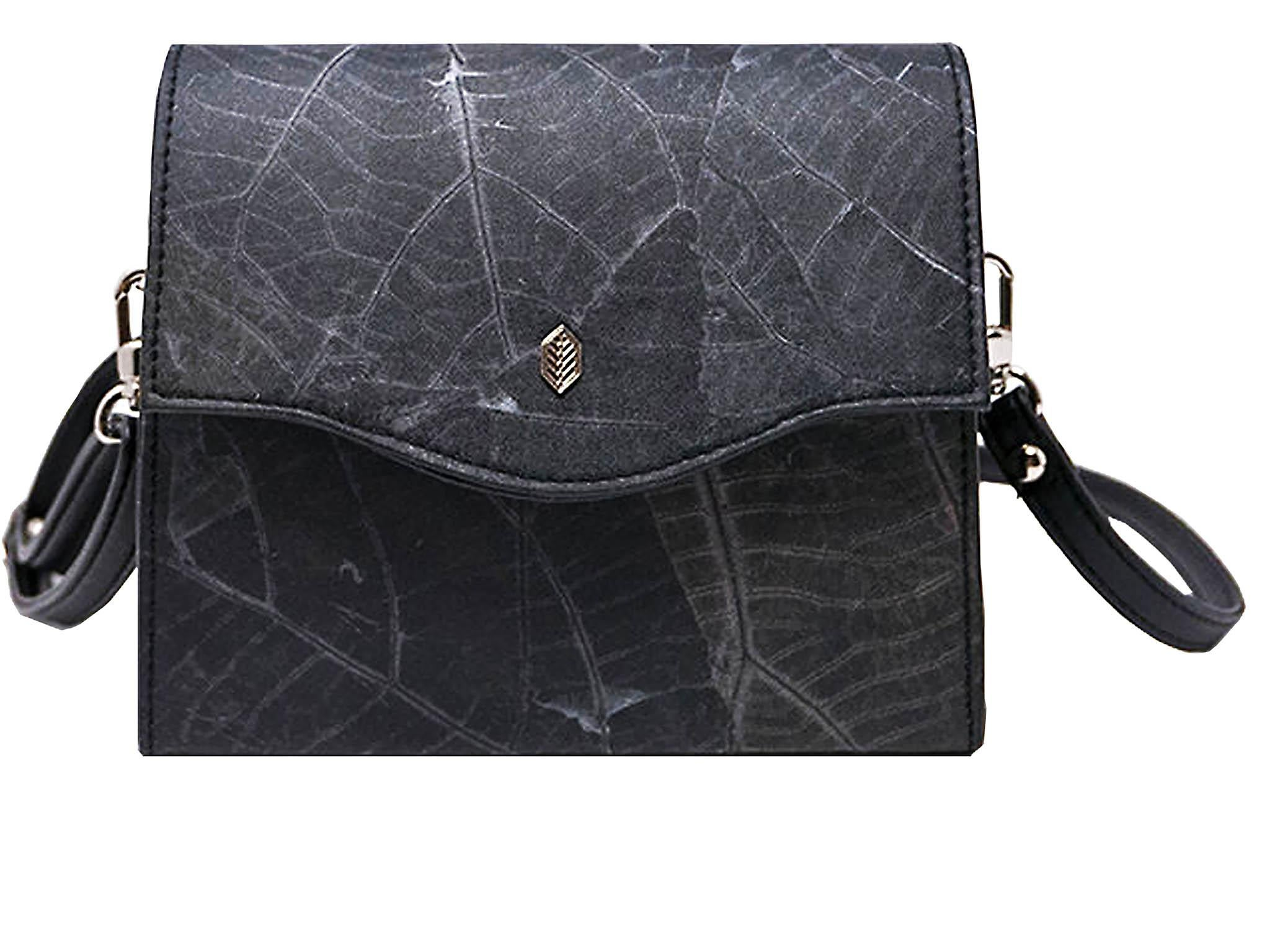 Thamon Box Bag in Black Leaf Leather, £43.68, Thamon 2b266be228