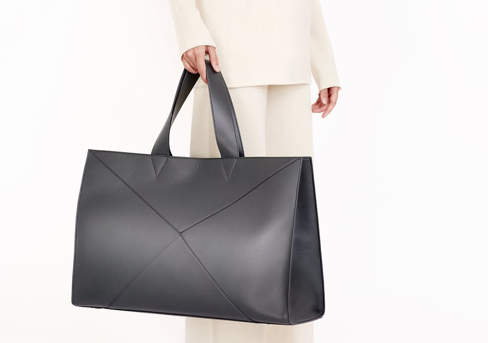 1853246004c This oversized tote is crafted in Italy from Japanese leather