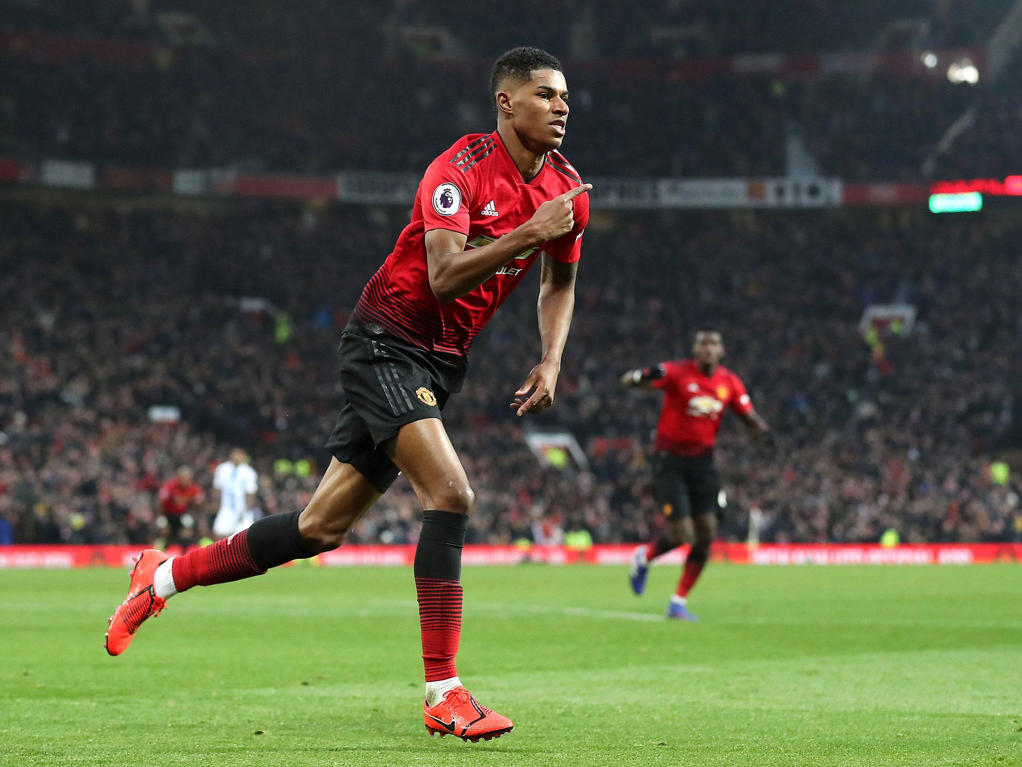 Manchester United Vs Brighton Marcus Rashford S Solo Goal Sees Ole Gunnar Solskjaer Equal League Win Record The Independent The Independent