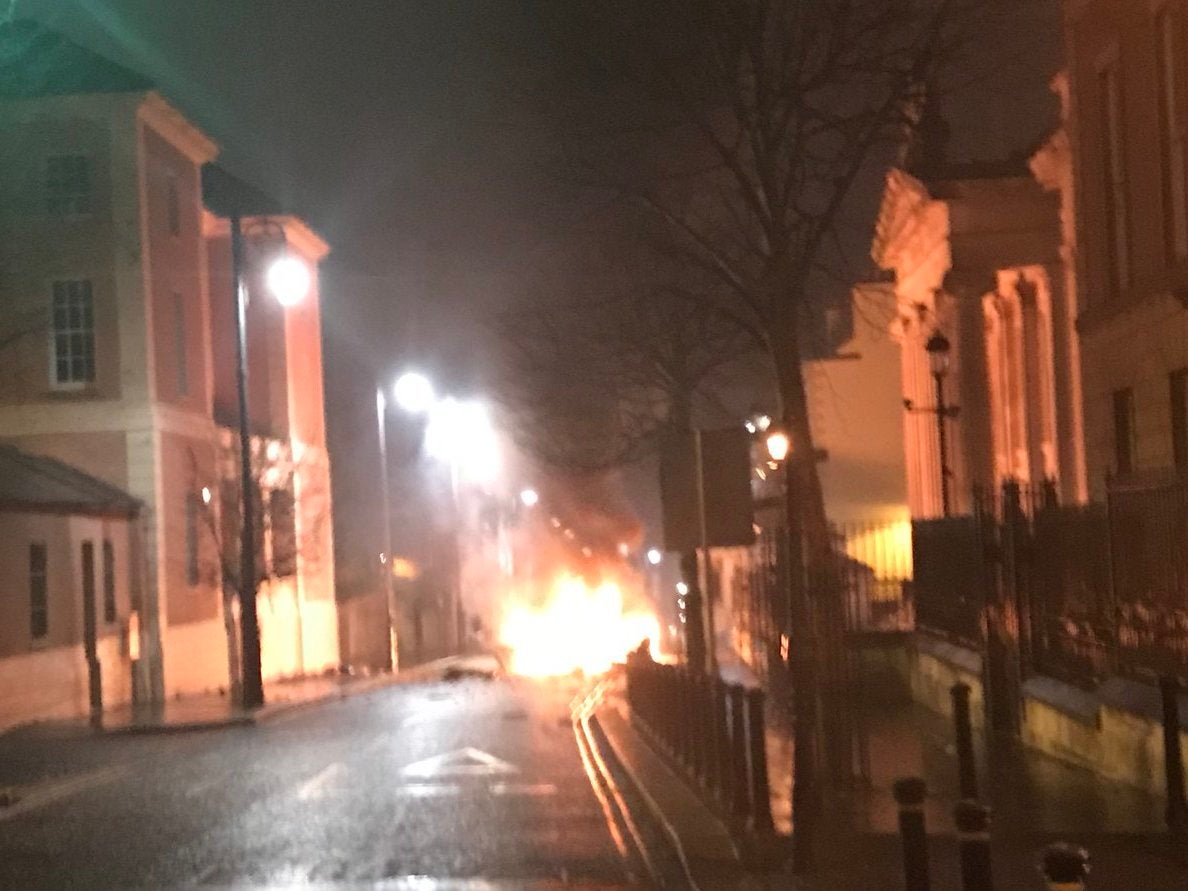Derry car bomb: Moment of explosion caught on video | The Independent