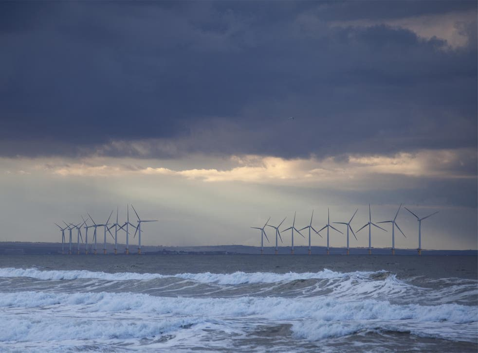 Scientists suggest wells drilled into North Sea rocks could act as stores for renewable energy produced by offshore wind farms