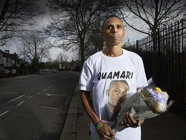 Paul Barnes, father of 15-year-old Quamari Serunkuma-Barnes, who was stabbed in west London by another 15-year-old in 2017