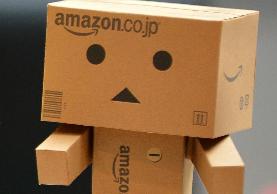 An Amazon robot box toy at Grand City Mall on July 21, 2013 in Surabaya, Indonesia
