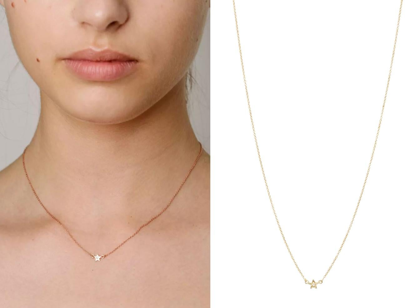 af7ca619f7ce1 Tada   Toy Gold vermeil and diamond Little Star necklace  £90