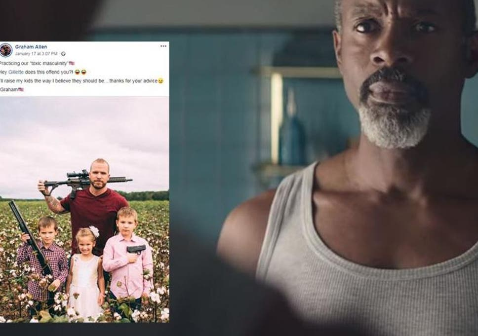 Hey Gillette does this offend you?!' Dad responds to viral