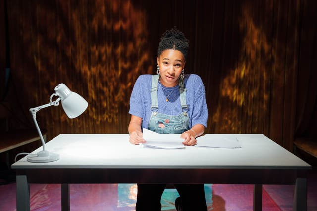 Shalisha James-Davis in the role of Elizabeth Bishop: the actors change each night in this moving and surprising work