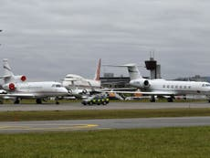 Record number of private jets to fly into Davos to talk climate change